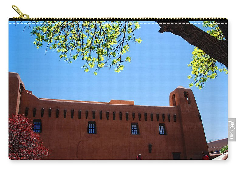 New Mexico Carry-all Pouch featuring the photograph New Mexico Museum Of Art by Susanne Van Hulst