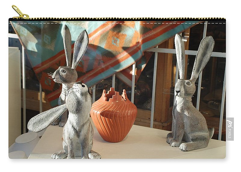 Rabbits Carry-all Pouch featuring the photograph New Mexico Rabbits by Rob Hans