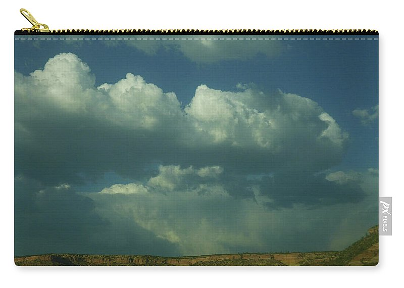 Clouds Carry-all Pouch featuring the photograph New Mexico Sky by Dan Dixon