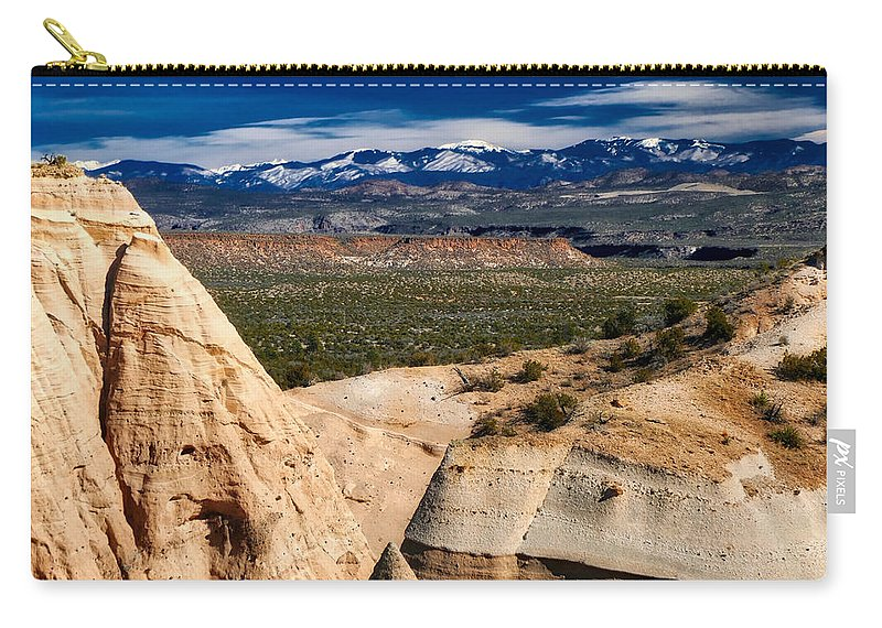 New Mexico Carry-all Pouch featuring the photograph New Mexico Vista by Jane Selverstone