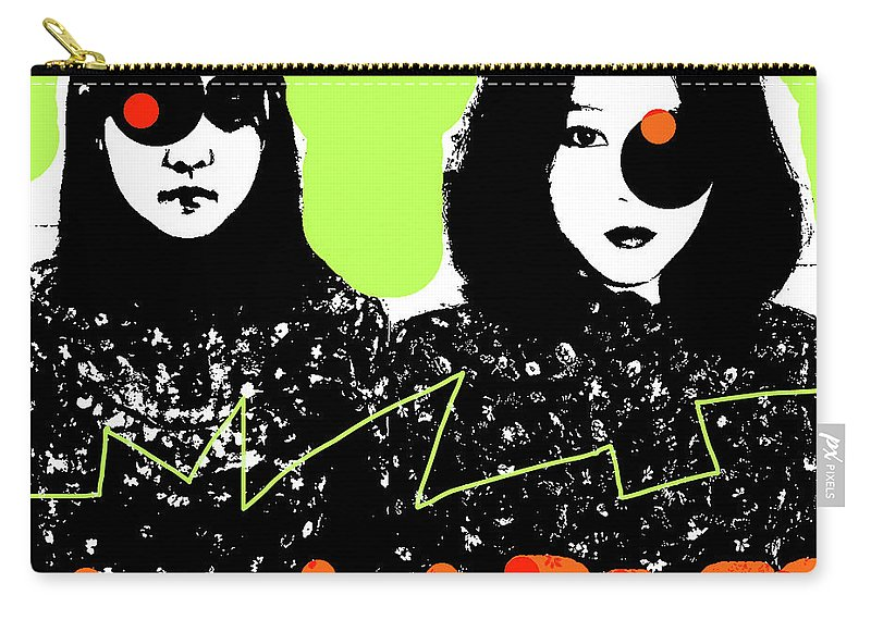 New Order Carry-all Pouch featuring the mixed media New Order 1983 Leave Me Alone by Enki Art