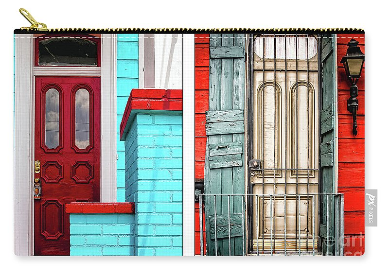 Doorway Carry-all Pouch featuring the photograph New Orleans Doorways Diptych One by Kathleen K Parker