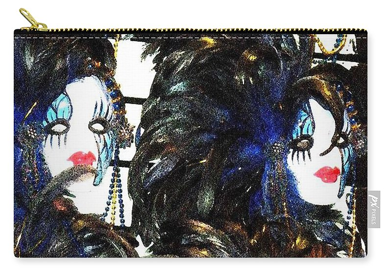 Masks Carry-all Pouch featuring the photograph New Orleans Masks by Nelson Strong