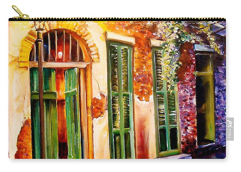 New Orleans Carry-all Pouch featuring the painting New Orleans Mystery by Diane Millsap