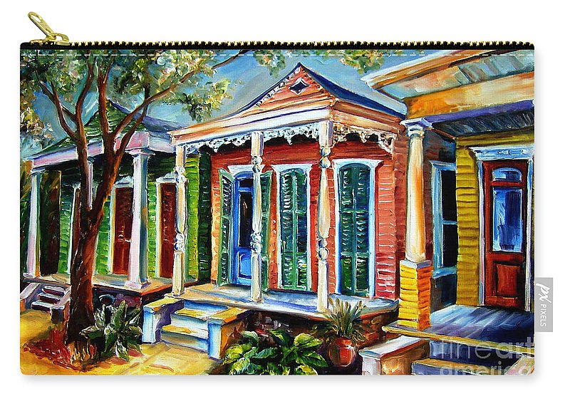 New Orleans Paintings Carry-all Pouch featuring the painting New Orleans Plain And Fancy by Diane Millsap