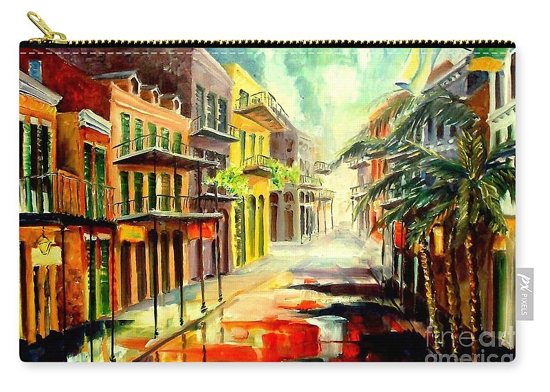 New Orleans Carry-all Pouch featuring the painting New Orleans Summer Rain by Diane Millsap