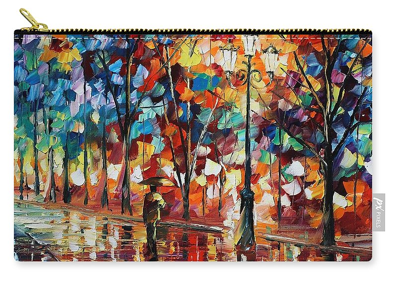 Afremov Carry-all Pouch featuring the painting New Park by Leonid Afremov