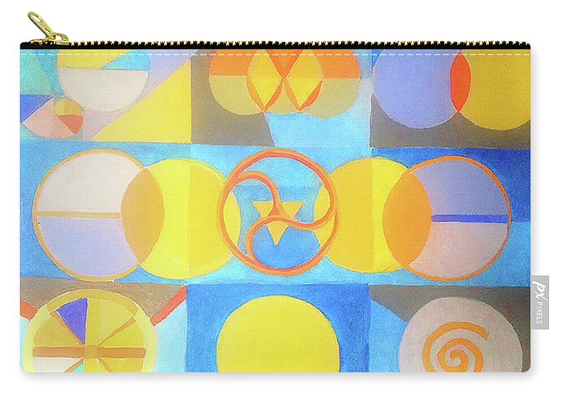 Circles Carry-all Pouch featuring the painting Geometrica 1 by Suzanne Cerny