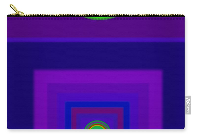 Classical Carry-all Pouch featuring the digital art New Violet by Charles Stuart