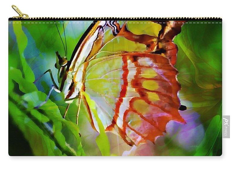 Malachite Butterfly Carry-all Pouch featuring the photograph New Wings by Clare Bevan