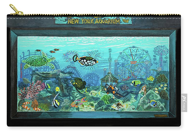 New York Aquarium Carry All Pouch For Sale By Bonnie Siracusa
