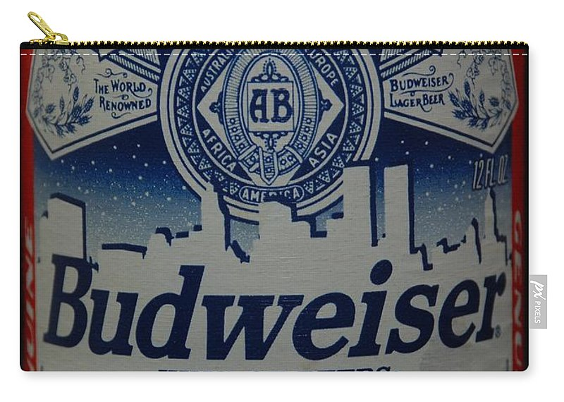 Budweiser Carry-all Pouch featuring the photograph New York Bud by Rob Hans