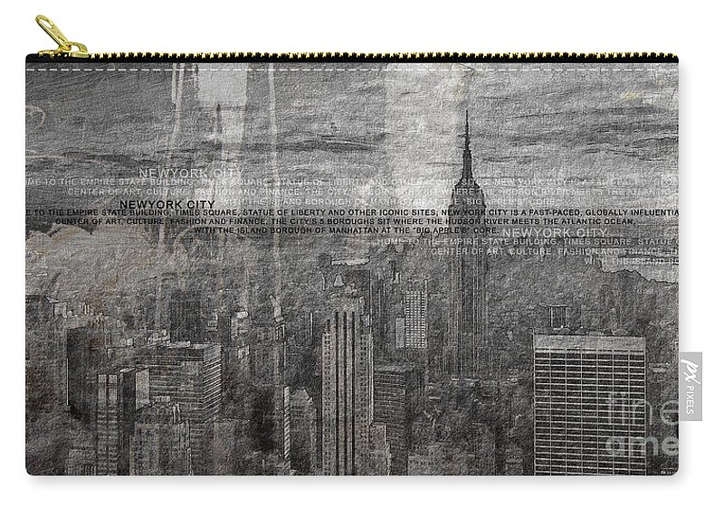 Canvas Print Carry-all Pouch featuring the painting New York City 1 by Gull G