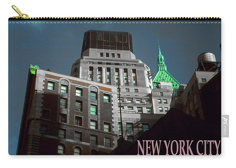 Newyork Carry-all Pouch featuring the photograph New York City Poster - Wall Street by Peter Potter