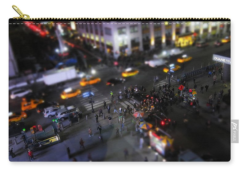 Newyork Carry-all Pouch featuring the photograph New York City Street Miniature by Nicklas Gustafsson