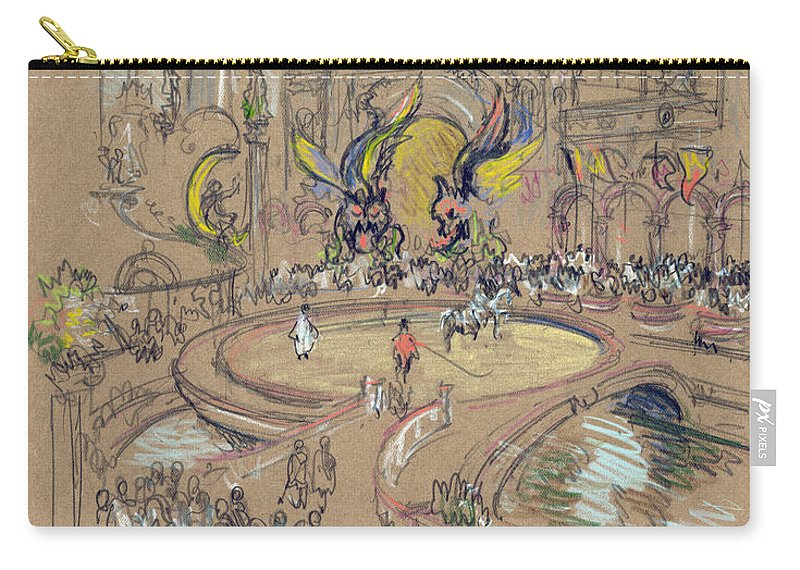 1906 Carry-all Pouch featuring the drawing New York, Coney Island, C1906. by Granger