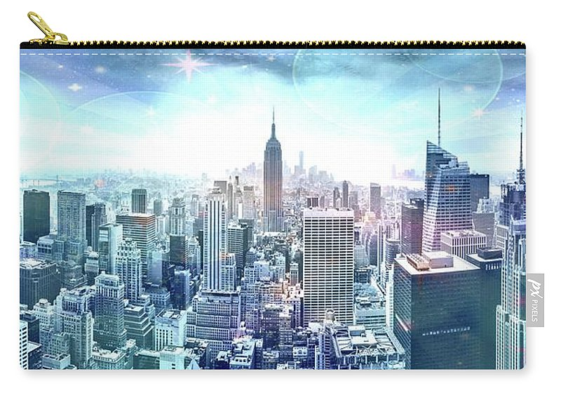 Empire State Building Carry-all Pouch featuring the photograph New York Fairytales by Az Jackson