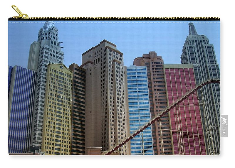 Vegas Carry-all Pouch featuring the photograph New York Hotel by Anita Burgermeister