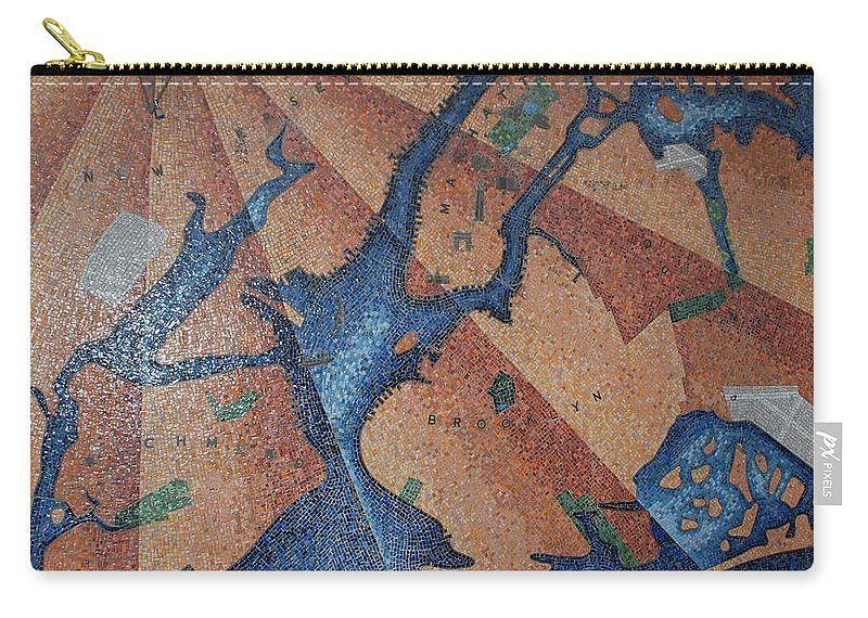 Times Square Carry-all Pouch featuring the photograph New York In Mosaic by Rob Hans