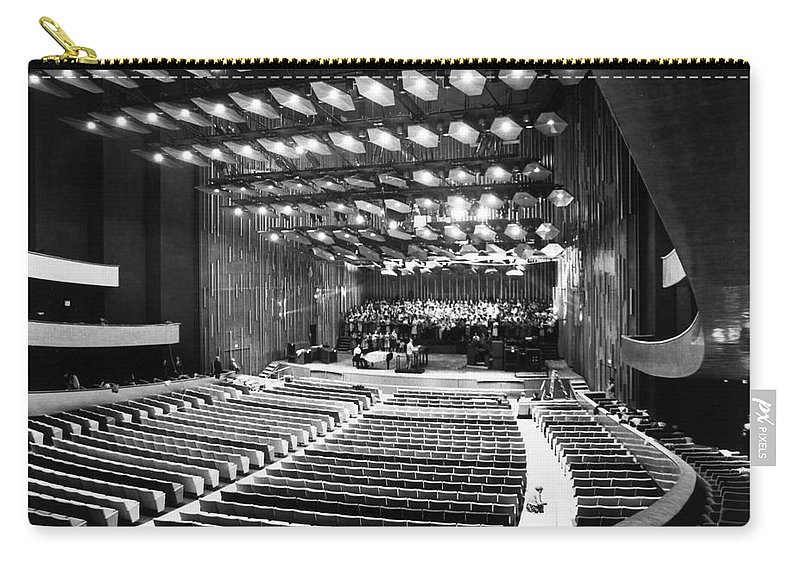 1962 Carry-all Pouch featuring the photograph New York: Lincoln Center by Granger