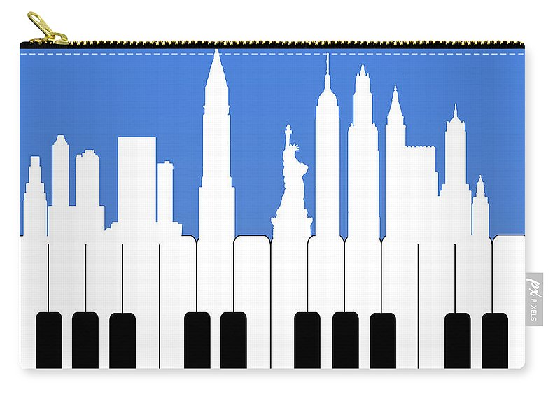 Record Carry-all Pouch featuring the painting New York New York by Mark Ashkenazi
