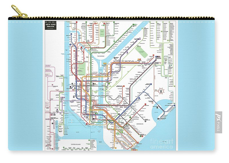 New York Subway Map For Sale.New York Subway Map Carry All Pouch