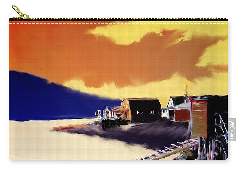Newfoundland Carry-all Pouch featuring the photograph Newfoundland Fishing Shacks by Ian MacDonald