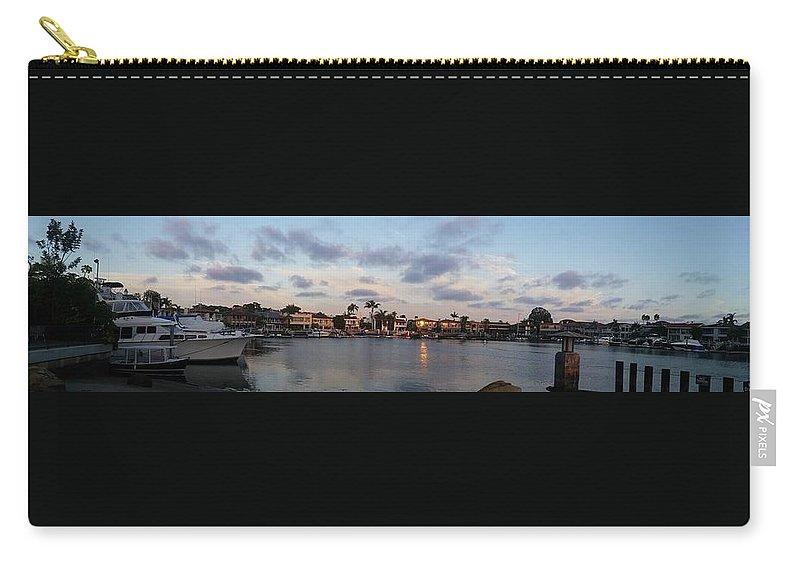 Newport Beach Carry-all Pouch featuring the photograph Newport Beach Bay by Kimberly Watt