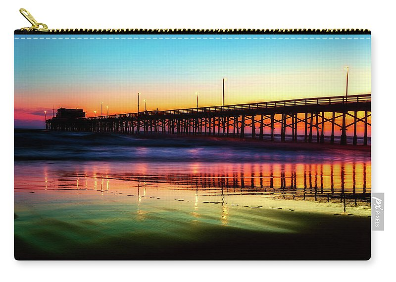 Newport Beach Carry-all Pouch featuring the photograph Newport Beach Pier At Sunrise by Unsplash