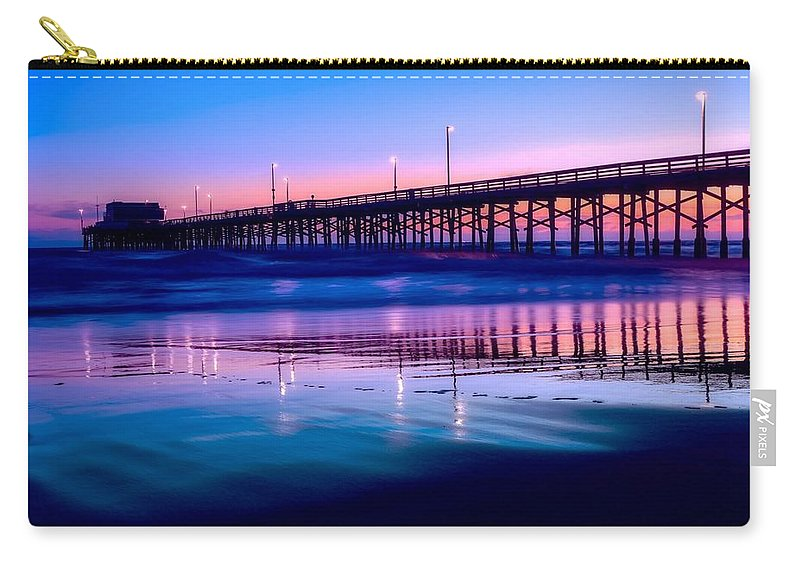 Newport Carry-all Pouch featuring the photograph Newport Sunset by Dawn Van Doorn
