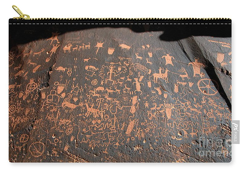 Newspaper Rock State Park Utah Carry-all Pouch featuring the photograph Newspaper Rock by David Lee Thompson