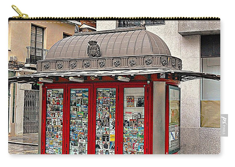 Newspaper Stand Carry-all Pouch featuring the photograph Newspaper Stand by John Hughes