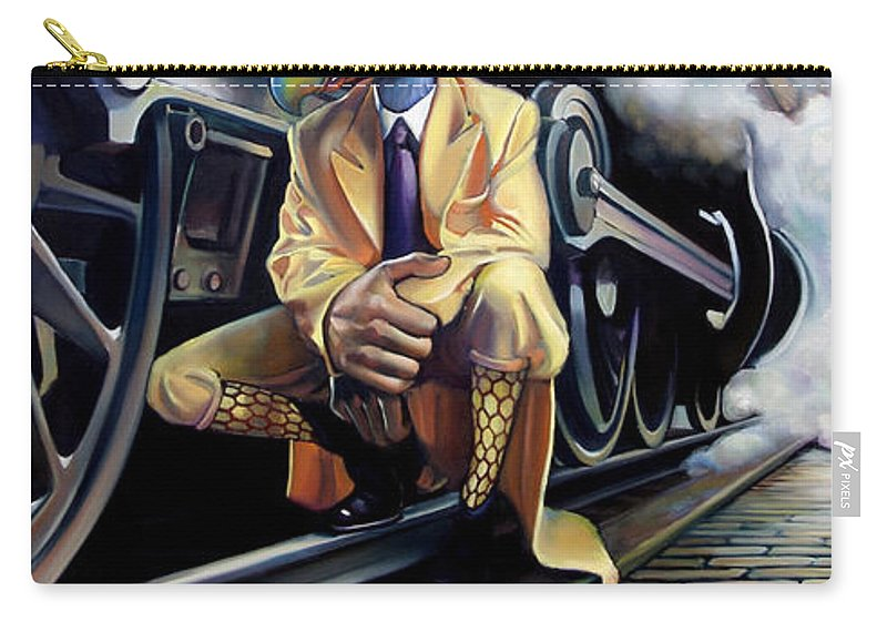 Locomotive Carry-all Pouch featuring the painting Newton's Law by Patrick Anthony Pierson