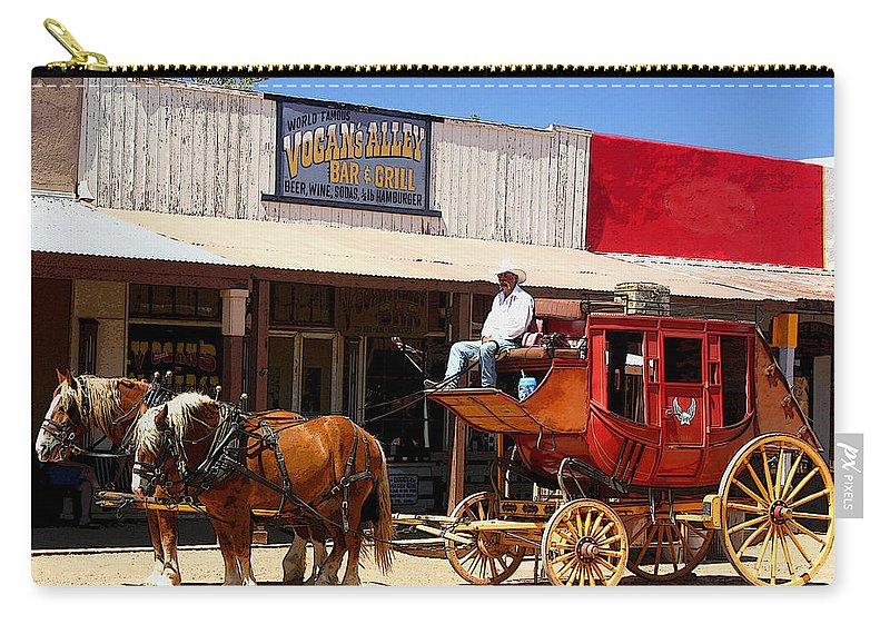 Stage Carry-all Pouch featuring the photograph Next Stop Bisbee by Joe Kozlowski