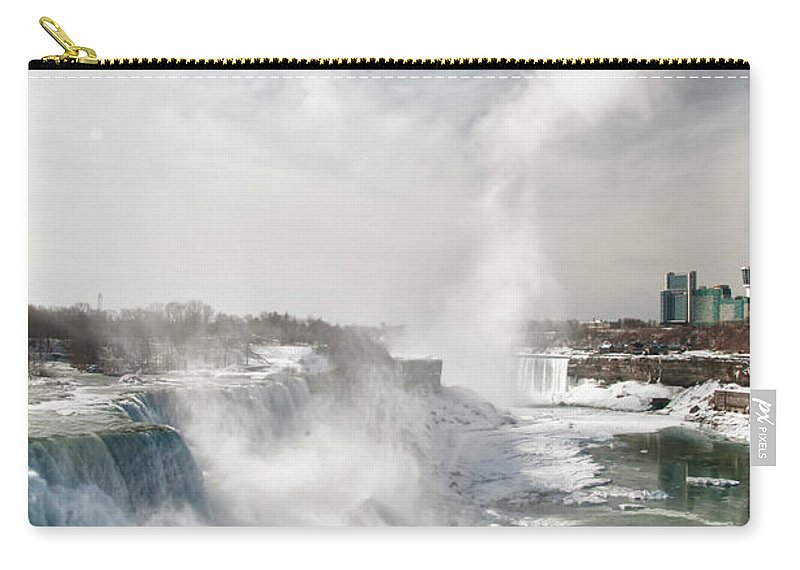 Niagara Falls Carry-all Pouch featuring the photograph Niagara Falls 4601 by Guy Whiteley