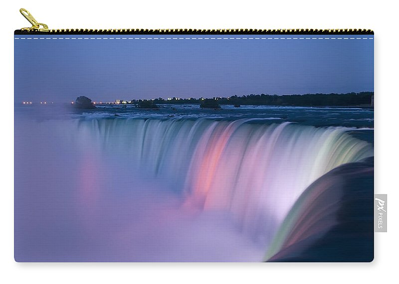 3scape Photos Carry-all Pouch featuring the photograph Niagara Falls At Dusk by Adam Romanowicz