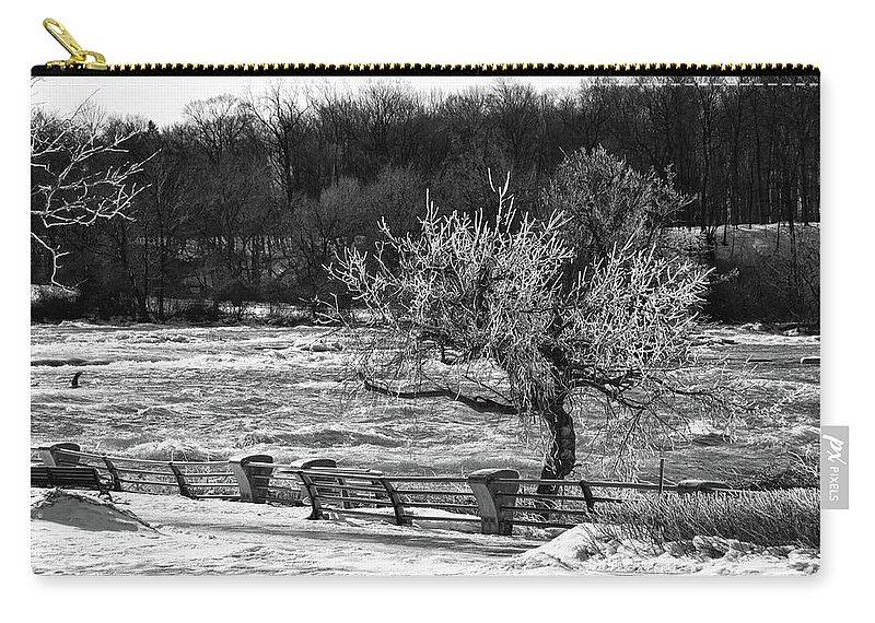 Niagara Falls Carry-all Pouch featuring the photograph Niagara Falls Ice 4514 by Guy Whiteley