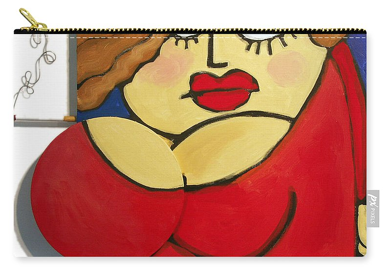 Woman Carry-all Pouch featuring the painting Nice Socks by Tim Nyberg