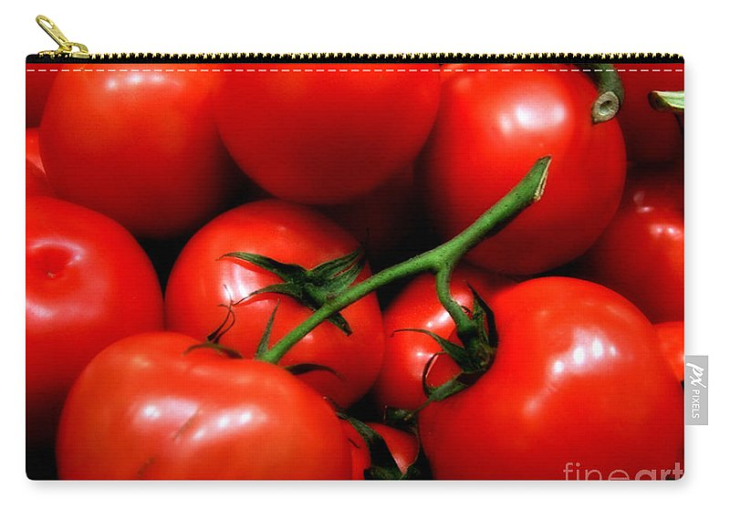 Food Carry-all Pouch featuring the photograph Nice Tomatoes Baby by RC DeWinter