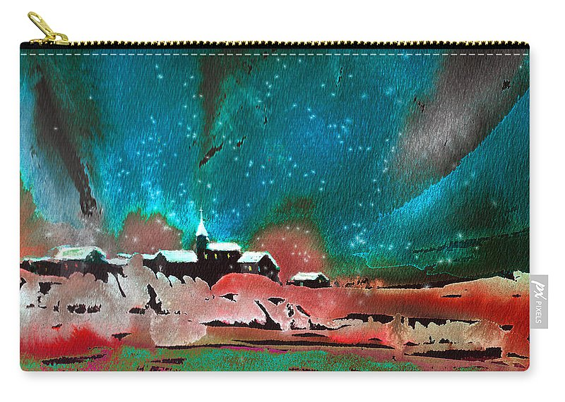 Watercolour Landscape Carry-all Pouch featuring the painting Nichtfall 14 by Miki De Goodaboom