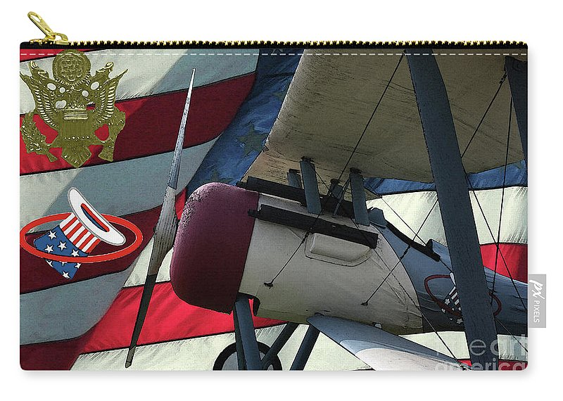 Nieuport 28c Carry-all Pouch featuring the digital art Nieuport 28c Hat In The Ring by Tommy Anderson