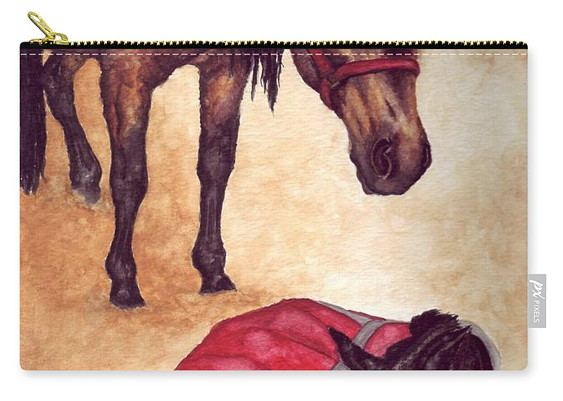 Horse Carry-all Pouch featuring the painting Nifty And Hannah by Kristen Wesch