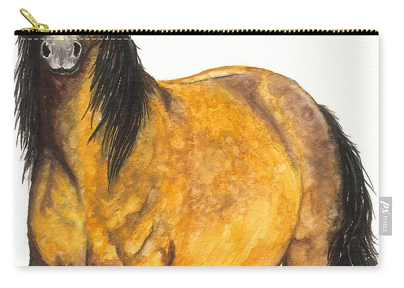 Horse Carry-all Pouch featuring the painting Nifty by Kristen Wesch