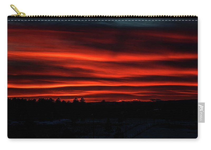 Clouds Carry-all Pouch featuring the photograph Night Approaches by Alana Thrower
