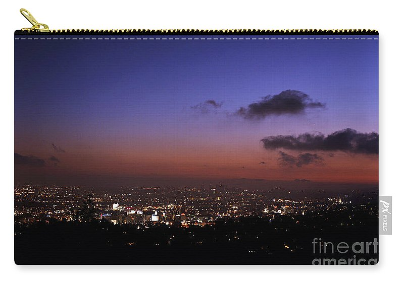 Clay Carry-all Pouch featuring the photograph Night At Griffeth Observatory by Clayton Bruster