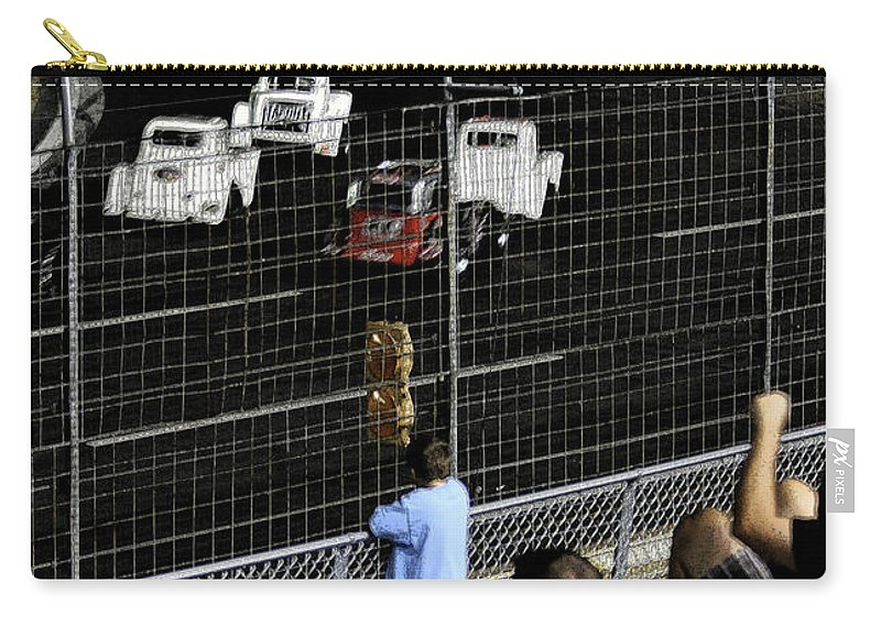 Races Carry-all Pouch featuring the photograph Night At The Races by Karol Livote