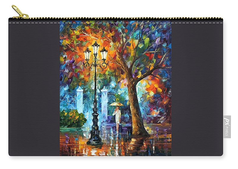 Afremov Carry-all Pouch featuring the painting Night Aura by Leonid Afremov