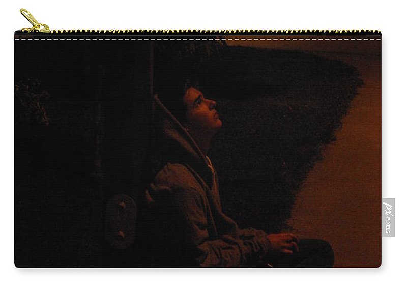 Night Carry-all Pouch featuring the photograph Night Boy by Cindy Johnston