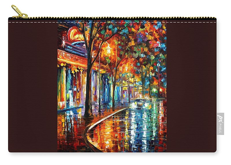Afremov Carry-all Pouch featuring the painting Night Cafe by Leonid Afremov
