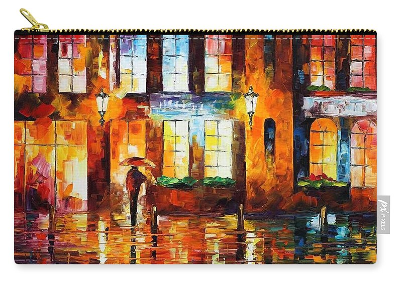 Afremov Carry-all Pouch featuring the painting Night City by Leonid Afremov